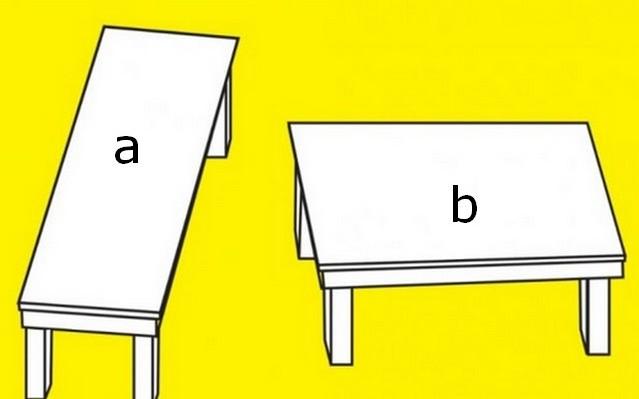 Melyik asztal a nagyobb?