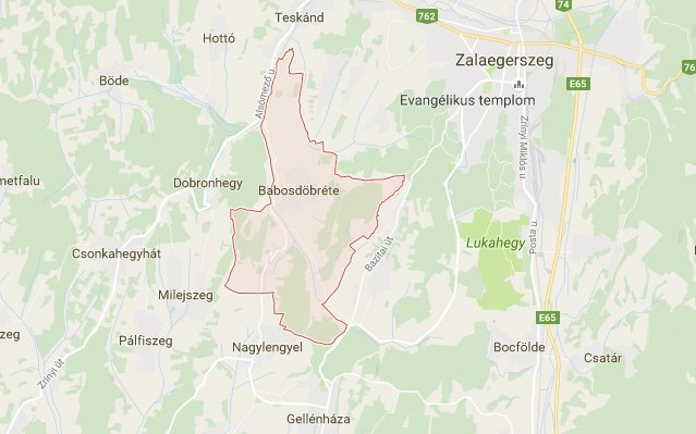 Babosdöbréte: község Zala megyében