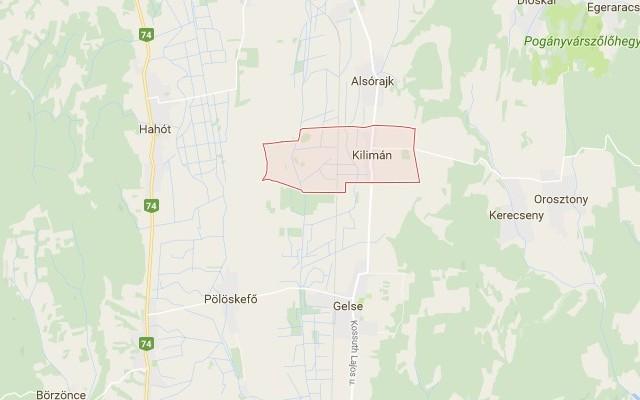 Kilimán: község Zala megyében
