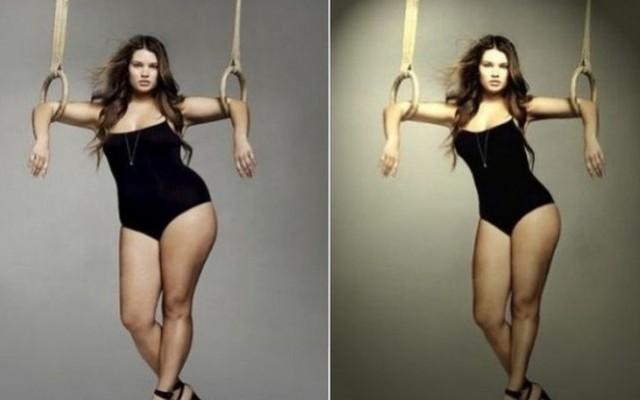 Sztárok fotói photoshop előtt és photoshop után