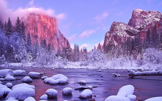 Csodálatos helyek a világon havazás előtt és után