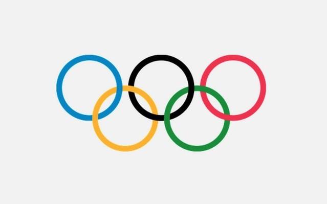 Az olimpia logó jobb felső sarkában milyen színű a karika?