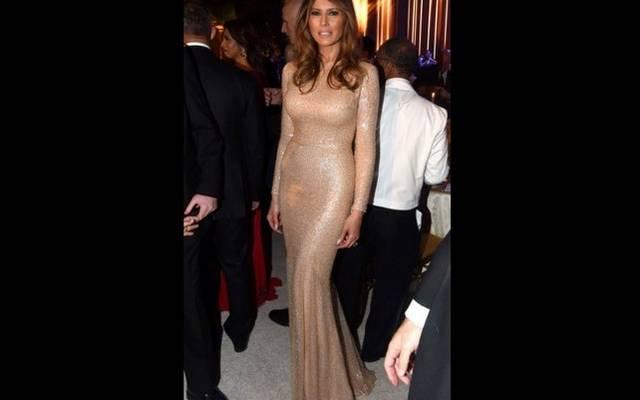 Hogy tetszik az új first lady, Melania Trump csillámos estélyije?