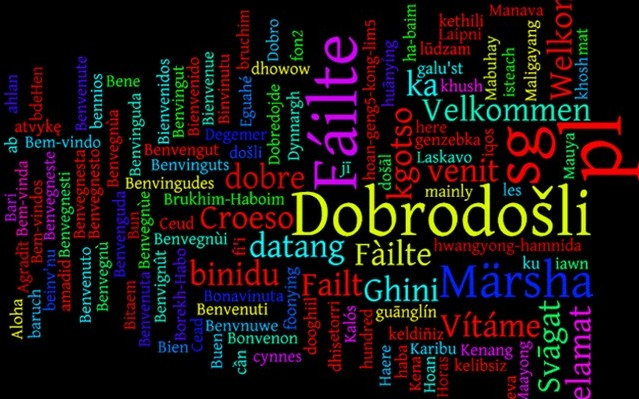 Du får lära dig att känna främmande språk. Milyen nyelven írták?