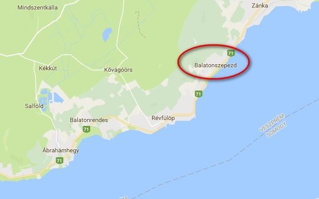 Balatonszepezd az északi parton van