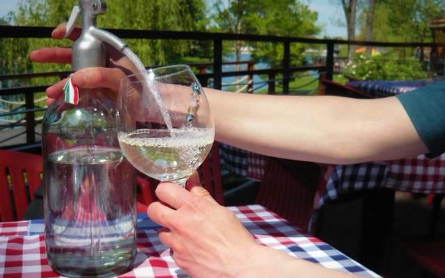 Mi a neve annak a fröccsnek, amely 3 dl borból és 2 dl szódából áll? (Fotó: dynamobike.wordpress.com)