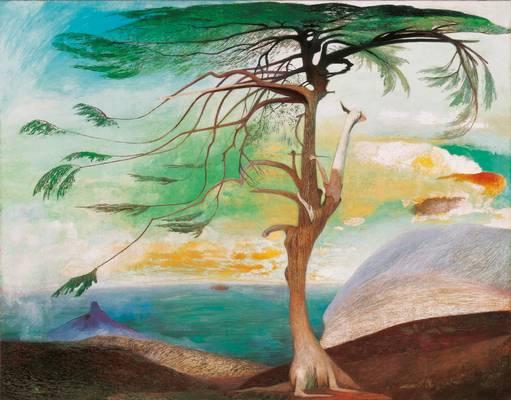 Kinek a festménye a Magányos cédrus?