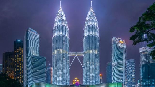 Hol található a Petronas-ikertorony?