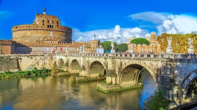 Róma melyik folyó mellett található?
