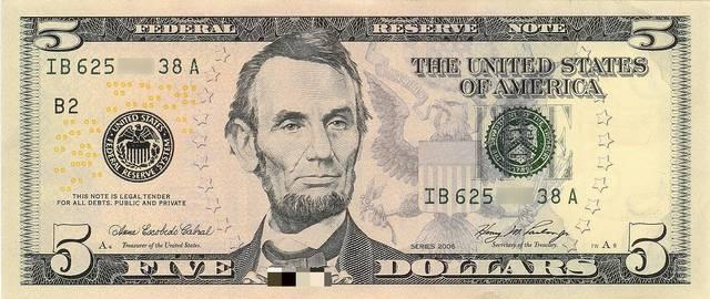 Kinek az arcképe látható az amerikai ötdollároson?