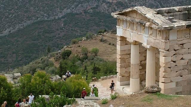 Miről híres Delphoi városa?