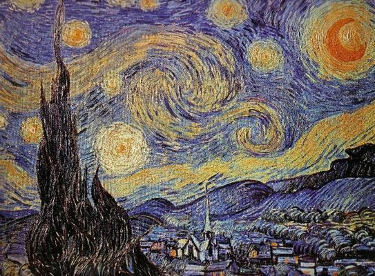 Ki festette a Csillagos éj című művet?
