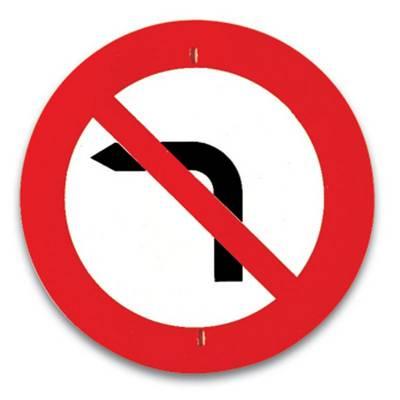Visszafordulhatsz-e, ha az ilyen táblával megjelölt útkereszteződést elhagytad?