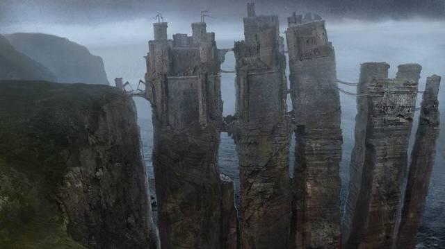 Casterly-hegy-től hol helyezkednek el a Vas szigetek ?