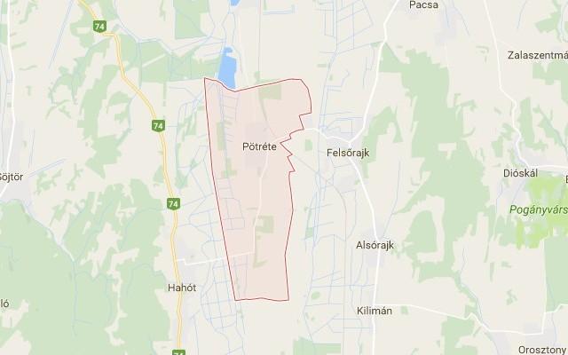 Pötréte: község Zala megyében