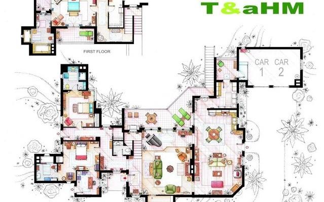 Melyik sorozatban szerepelt ez a lakás?