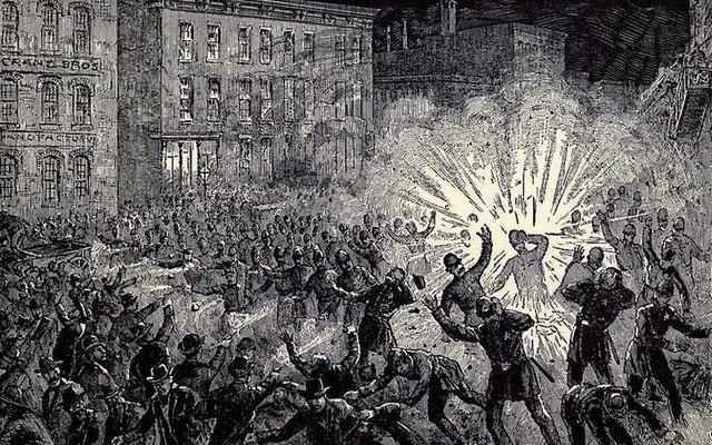 1886. május 1-jén munkássztrájk volt a nyolcórás munkaidő bevezetésért. Hol?