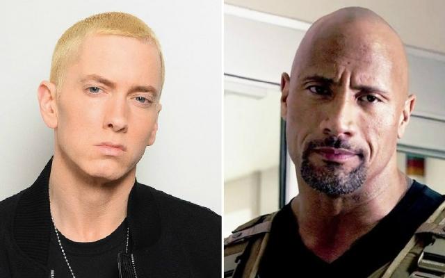 Hány éves Eminem és Dwayne Johnson?