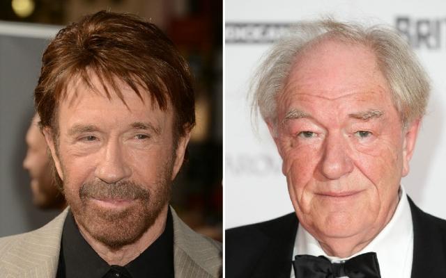 Hány éves Chuck Norris és Michael Gambon?