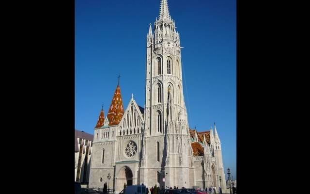 Melyik magyarországi templom látható a képrészleten?