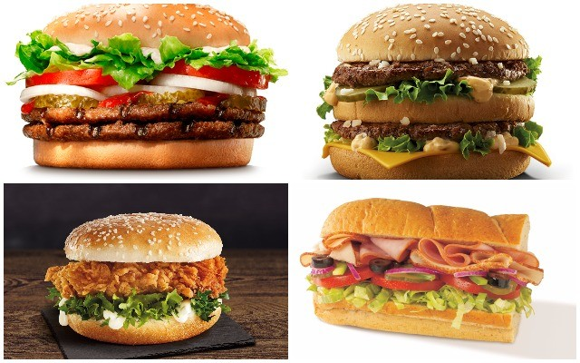 Hamburgerteszt. Felismered, melyik gyorsétterem szendvicse van a képen?