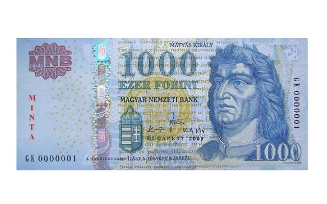 1000 Ft-os bankjegyen, Mátyás király