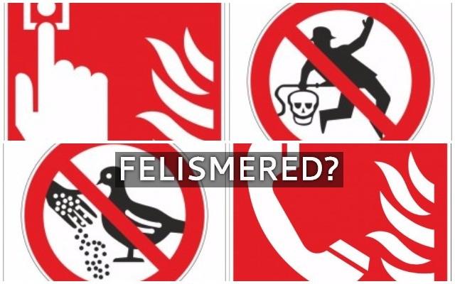 Szimbólumok, táblák. Felismered, melyik, mit jelent?