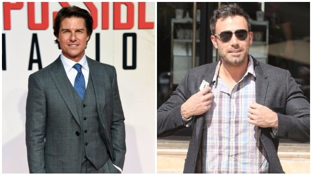 Tom Cruise 170 cm, Ben Affleck  192 cm