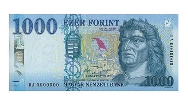 Az 1000 Ft-os bankjegyen Mátyás király arcképe látható.