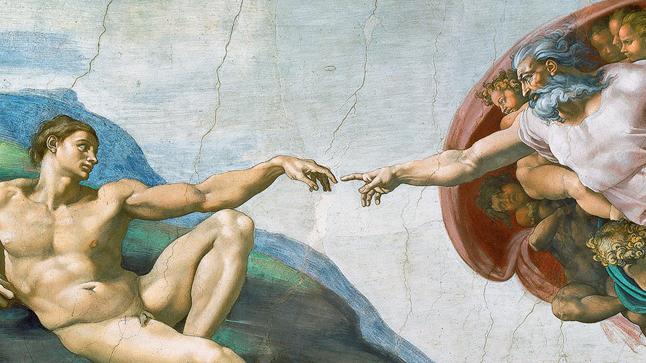 Hol található a freskó, melynek részlete Ádám teremtése?