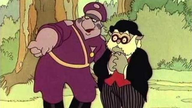 Hogy hívják a képen látható Dr. Bubó rajzfilm sorozat szereplőt (a bal oldalon)?