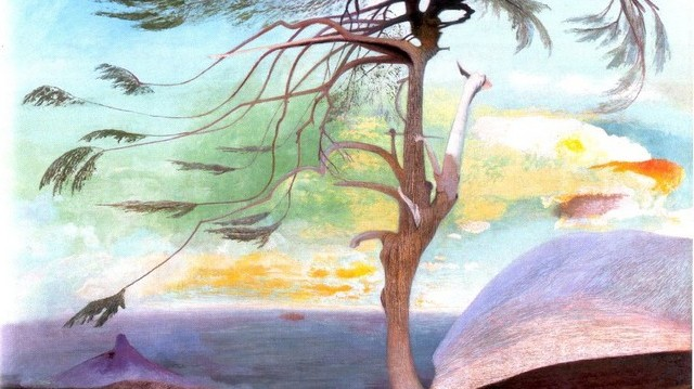 A Magányos cédrus című festmény, kinek a műve? (Kép forrása: http://mek.oszk.hu)