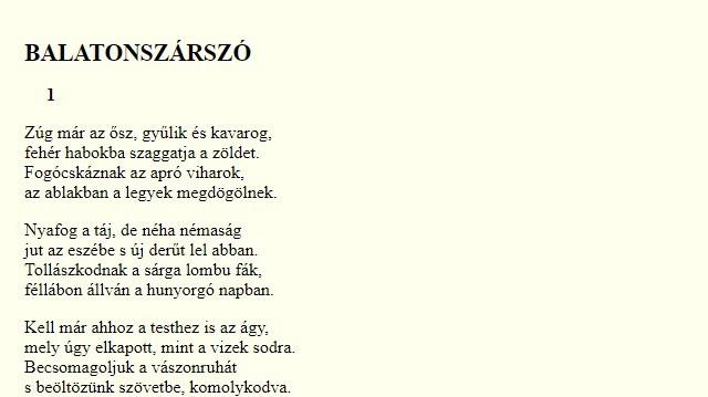 Balatonszárszó neve összefonódik egyik híres magyar költőnk nevével. Melyikével?