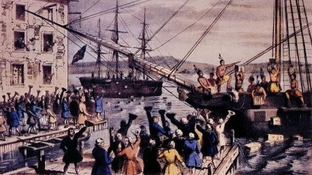 Mikor történt a Bostoni teadélután, amely az amerikai függetlenségi háború kitörésének közvetlen előzménye volt?