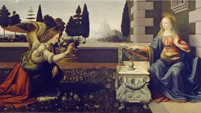 Melyik uralkodó nevéhez fűződik a reneszánsz kultúra behozatala az országba? (Kép: Leonardo da Vinci - Angyali üdvözlet)