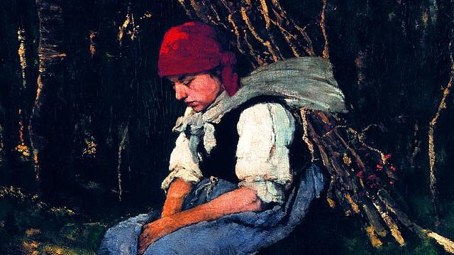 Mit hord a nő Munkácsy híres festményén?