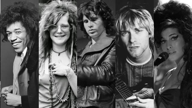 Jimy Hendrix, Janis Joplin, Jim Morrison, Kurt Cobain, Amy Winehouse. Mi a közös bennük?