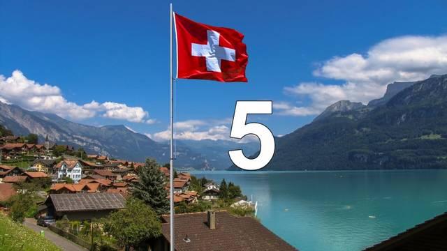 Öt országgal határos: Németországgal északon, Liechtensteinnel és Ausztriával keleten, Olaszországgal délen és Franciaországgal nyugaton.