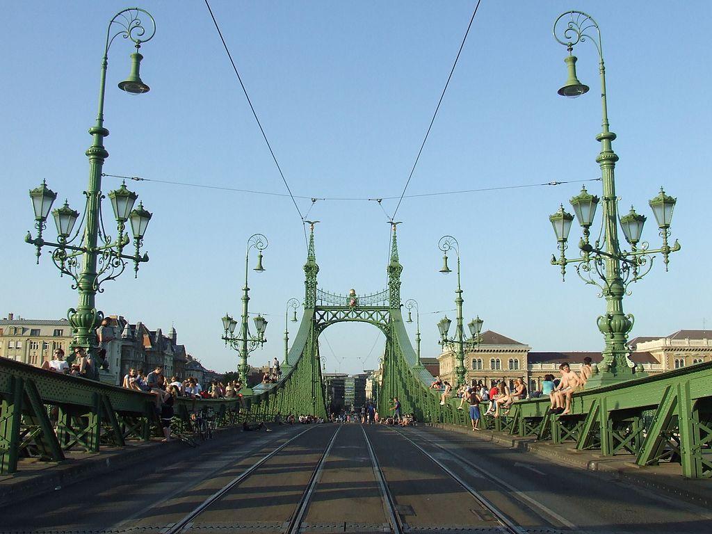 A mai Szabadság híd tervei közül 16 háromnyílású, 5 pedig egynyílású híddal számolt. A bírálóbizottság a pályázathoz hasonlóan nemzetközi volt, ……………… vezetésével.