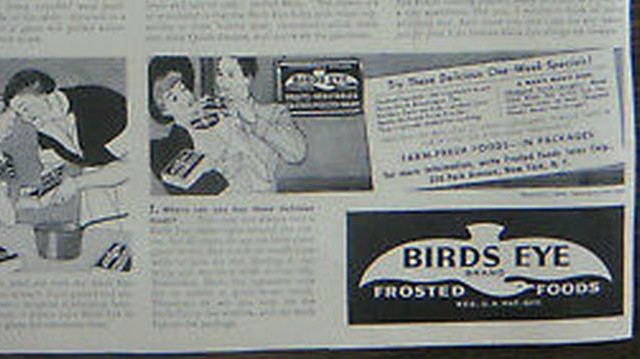 1930-ban Springfieldben, Birds Eye Matt Foods® márkanéven.
