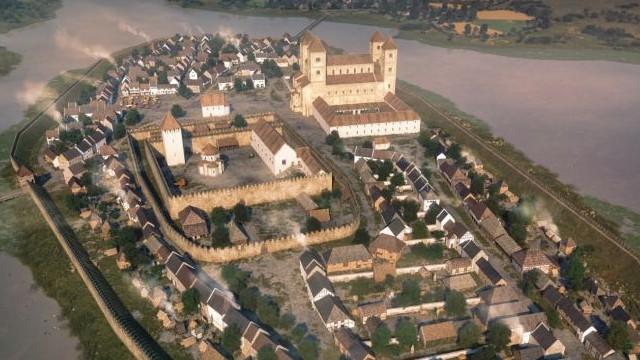 Melyik városunk 1205-ös rekonstrukciója látható a képen?