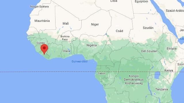 Afrikai ország. Az országot északnyugaton Sierra Leone, északon Guinea, keleten Elefántcsontpart, délen és délnyugaton az Atlanti-óceán határolja. Fővárosa: Monrovia. Melyik ország ez?
