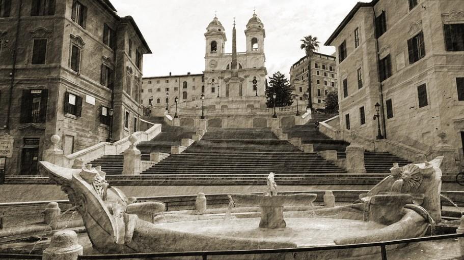 Hol található a Spanyol lépcső?