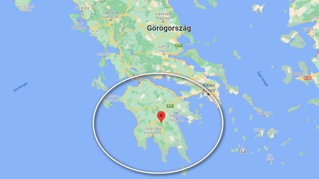 Melyik görög félszigetet jelöltük a térképen?