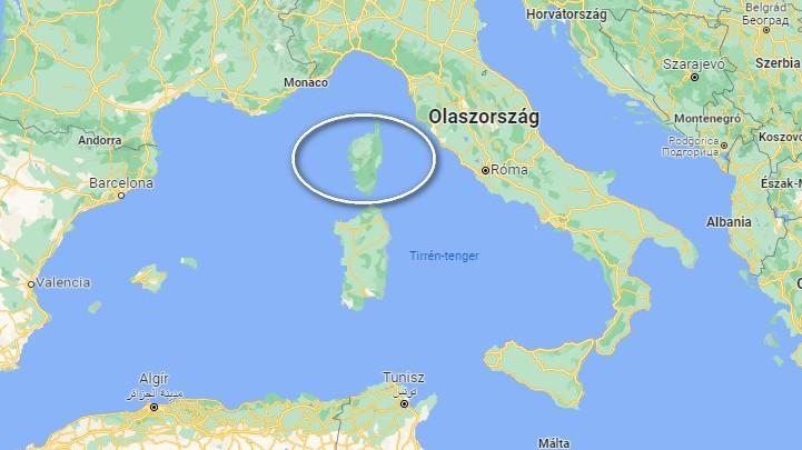 Melyik sziget a bekarikázott terület?